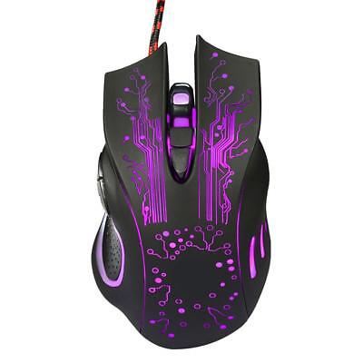 USB Wired Mouse Optical Mice Portable Gaming Control Mechanics Mouse Polychromat