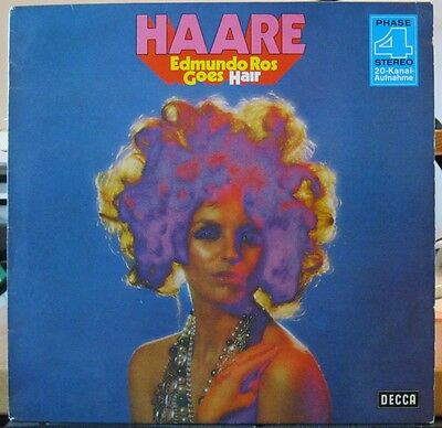 LP - Edmundo Ros Goes Hair - Decca Phase 4 - Aquarius Good Morning Starshine