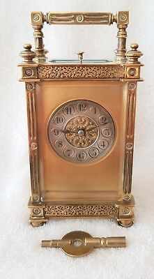 Repeater Carriage Clock Antique Striking Rare Fully Working.