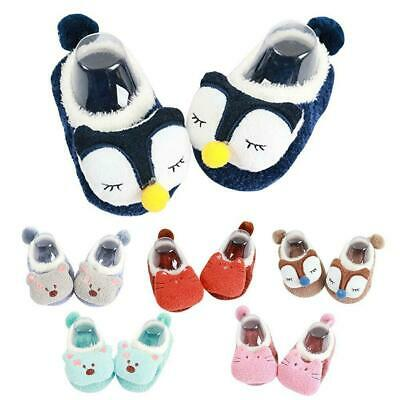 Newborn Baby Cartoon Sock Shoes Non-slip Socks Winter Warm Toddler Shoes Slipper