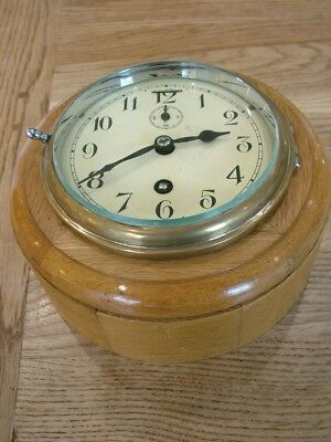 Working Smiths Mechanical Oak Cased Air Ministry Wall Clock Raf No Reserve