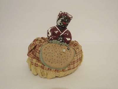 vintage Black Americana Mammy Aunt Jemima type pin cushion doll as-is no reserve
