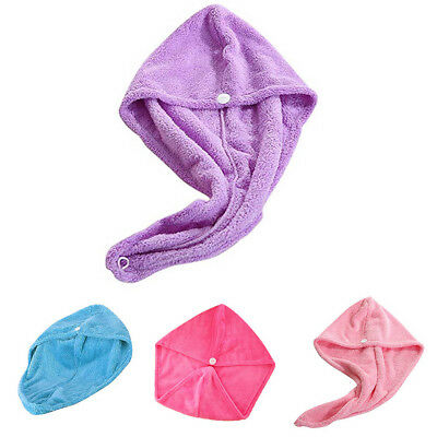 Microfiber Hair Wrap Towel Drying Bath Spa Head Cap Turban Twist Dry Shower