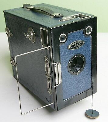 Fab 'duo-Ensign 2½' Box Camera With 'lens Cap' - Blue