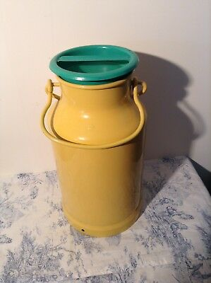 Vintage French Painted Milk Churn - Plant Stand, Garden, Coal Scuttle (3132)