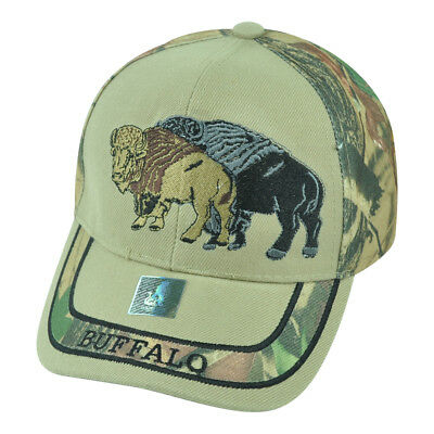 Buffalo Wild Animal Camouflage Camo Two Tone Outdoors Hat Cap Camping