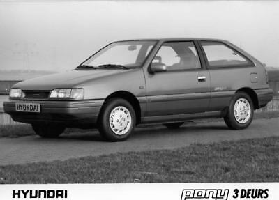 1990 Hyundai Pony Factory Photo Korea ua3407-8CV7IG