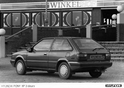 1987 Hyundai Pony XP Factory Photo Korea ua3412-IY96LK