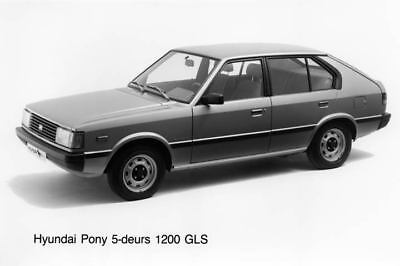 1983 Hyundai Pony 1200GLS Factory Photo Korea ua3487-B3MZ4C