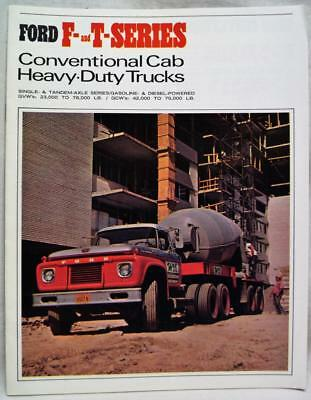 Ford Motor Company F&t Series Heavy Duty Trucks Advertising Sales Brochure 1966