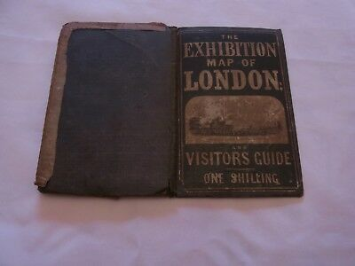 Victorian Exhibition Map Of London 1852 & Visitor's Guide Antique London Map
