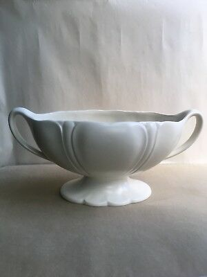 Vintage BESWICK White Oval Vase/Planter with handles, 1187-1