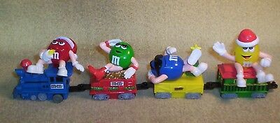 M&m Mars 2005 Christmas Holiday Animated Train With 4 Cars