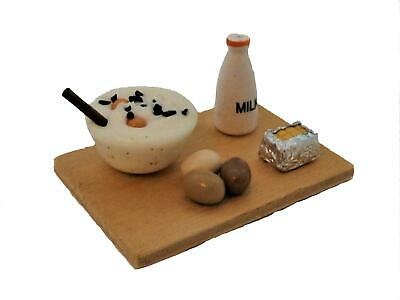 Dolls House Cake Baking Ingredients on Board  Food Miniature Kitchen Accessory