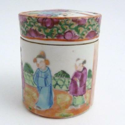 Chinese Famille Rose Porcelain Box And Cover, 19Th Century