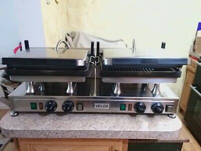 Double Velux Panini Grill CG-2G Excellent Condition Heavy Duty Commercial Unit