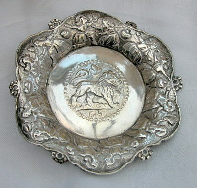 Antique or vintage Anglo Indian silver coaster