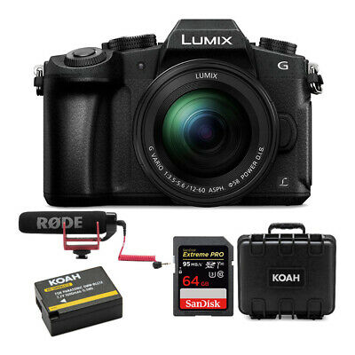 Panasonic LUMIX G85 4K Mirrorless Camera with 12-60mm Lens and Accessory Bundle