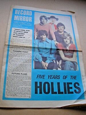 RECORD MIRROR September 28th 1968  Hollies Nilsson Keith Emerson