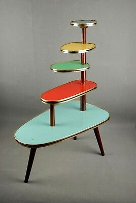 1950s PLANTSTAND Mid Century Danish Modern Plant Stand Vintage Eames 60s 70s