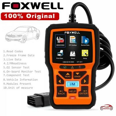 Foxwell NT301 OBD2 Engine Check Universal Code Reader Scanner Diagnostic Tool