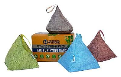 4 Pack of 175g Naturally Activated Bamboo Charcoal Air Purifying Bags | Natural