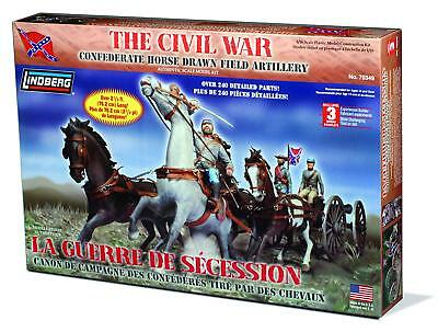Lindberg 1/16 Civil War Horse Drawn Field Artillery Confederate Model Kit 70349