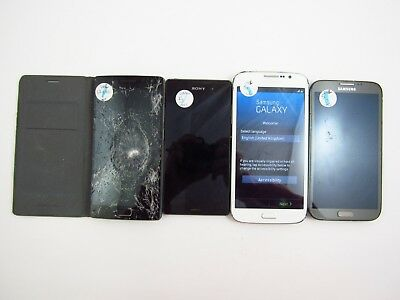 Lot of 4 Parts & Repair Assorted Unlocked Phone's Check IMEI PR 3-1239