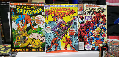 Marvel Amazing Spider-Man #'s 104,  136, and 380 Kraven Goblin Carnage LOOK !!!