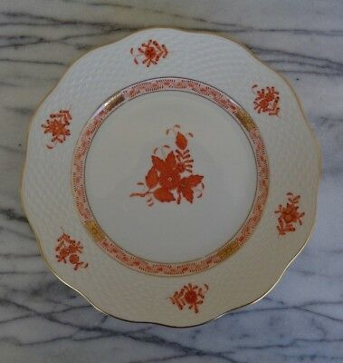 "Herend Porcelain Chinese Bouquet Rust Salad Plate 8.25"" / 519"