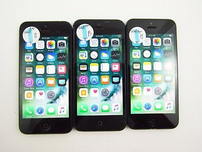 Lot of 3 Apple iPhone 5 A1428 16GB ATT Check IMEI Good Condition 3-1229