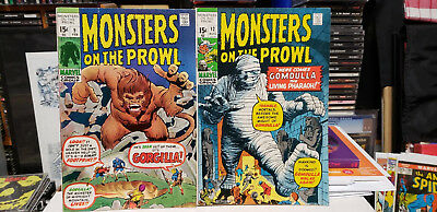 Marvel Monsters on the Prowl #'s 9 and 12 First B W Smith ink