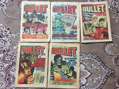 Job Lot Of 5 Early Bullet Comics From 1976
