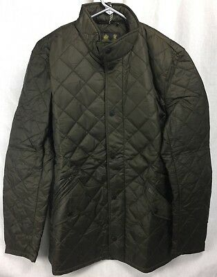 New Barbour Flyweight Chelsea Quilted Jacket Mens Olive S-Xxl Warm Fast Ship