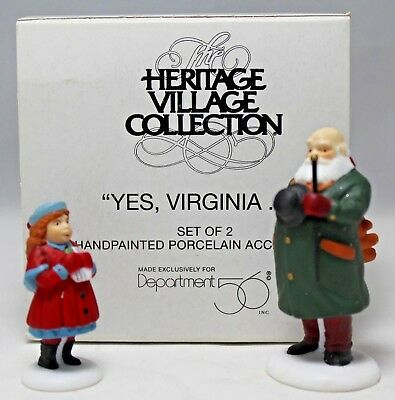 "Department 56 ""Yes, Virginia..."" Christmas In The City Accessory #58890 MIB"