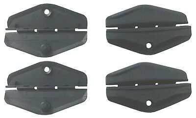 82 thru 94 GM BUICK CADDY OLDS PONTIAC 4x WINDOW GUIDE Clips Front Doors  Fits