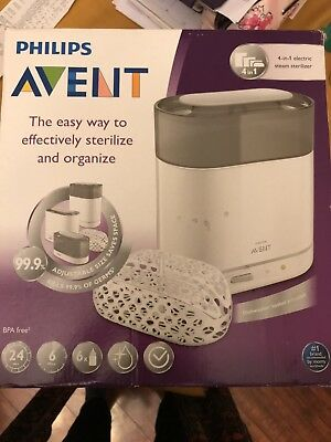 NEW IN BOX PHILIPS AVENT 4-IN-1 ELECTRIC STEAM STERILIZER *see pictures*