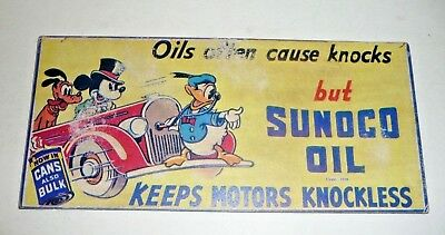 Vintage Sunoco Oil Knockless Ink Blotter, Mickey Donald Pluto Disney 1939