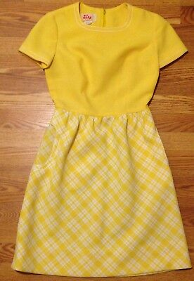 Vintage Toby Tanner Dress Yellow Women's Size 10