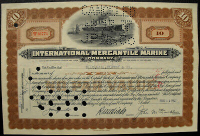 USA Amerika International Mercantile Marine alte Aktie 1937 Schiffahrt