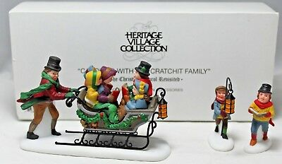 """Department 56 """"Caroling With The Cratchit Family"""" Dickens' Village #58396 MIB"""