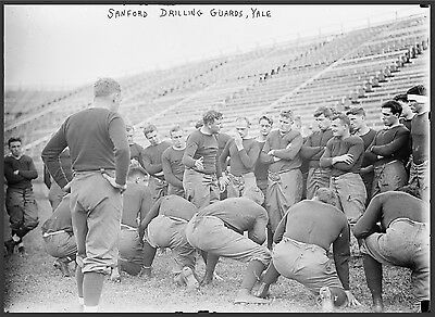"""1914 Yale Football, College Sports,Offensive Line Coach Sanford, 20""""x16"""" photo"""