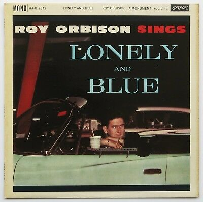 """ROY ORBISON Signed 1960 """"Lonely and Blue"""" UK Album 1st PRESSING Autographed NM"""