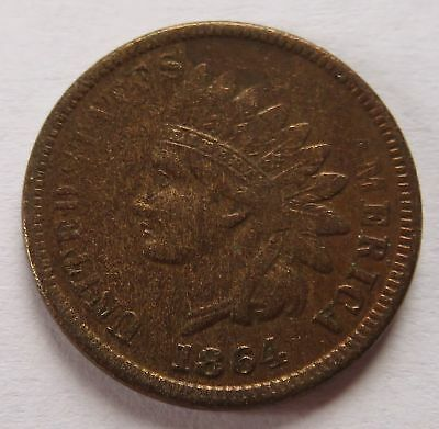 1864 Indian Head Cent - VF Details, Vintage Better Date Penny 1C coin  (151716P)