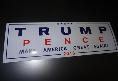 Donald Trump for President Make America Great Again Bumper Sticker USA White