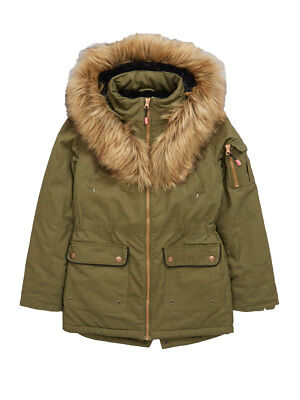 V by Very Girls Parka In Khaki Size 12 Years