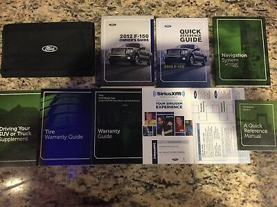 2012 ford f-150 owners manual user guide | ebay.