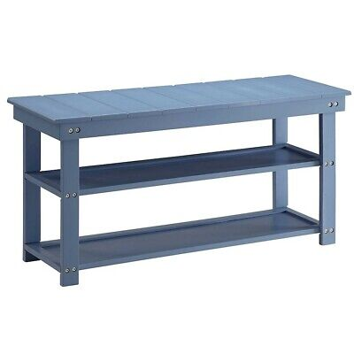Convenience Concepts Oxford Utility Mudroom Bench, Blue - 203300BE
