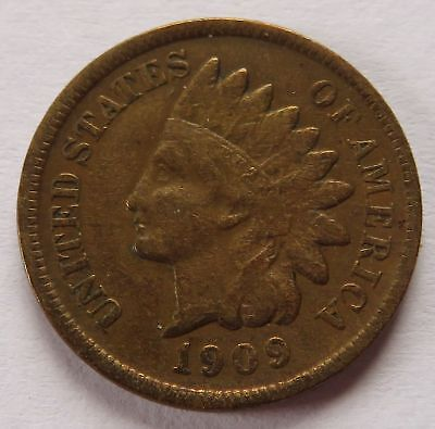 1909-S Indian Head Cent - VG Details, Vintage KEY DATE Penny 1C coin (151727P)