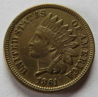 1861 Indian Head Cent - XF Details, Vintage Better Grade Penny 1C coin (151731P)